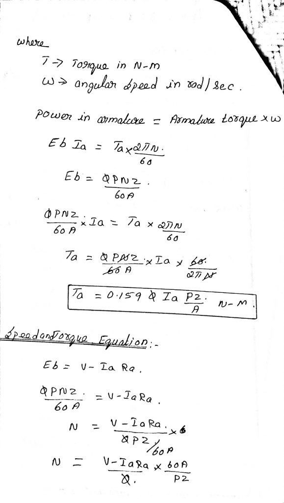 Torque Equation Of Pmmc