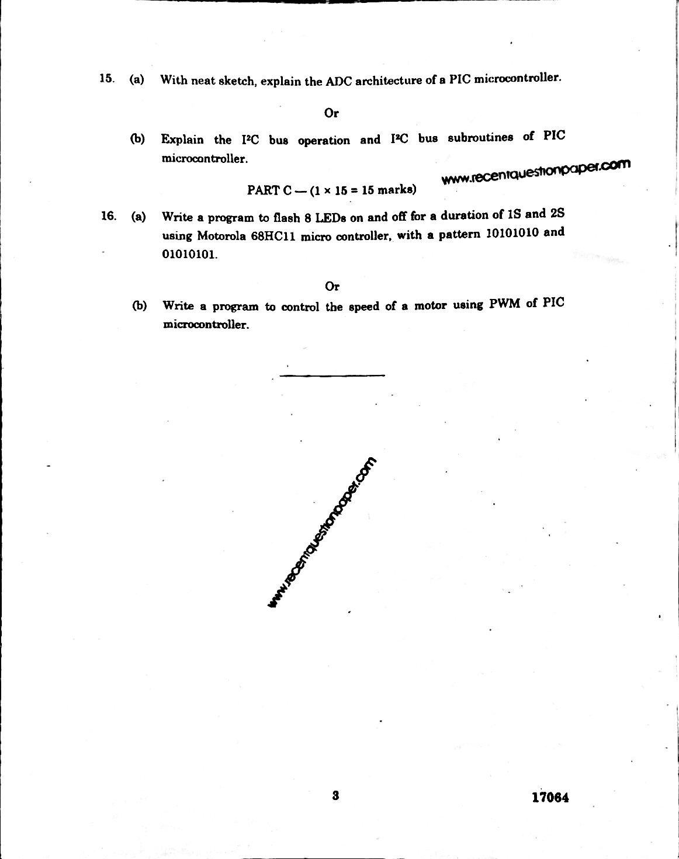 AP7103 Advanced Microprocessor And Micro Controller Anna University Question paper