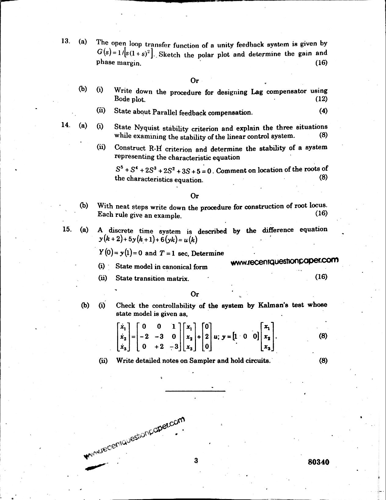 Ec6405 Control System Engineering Recent Question Paper