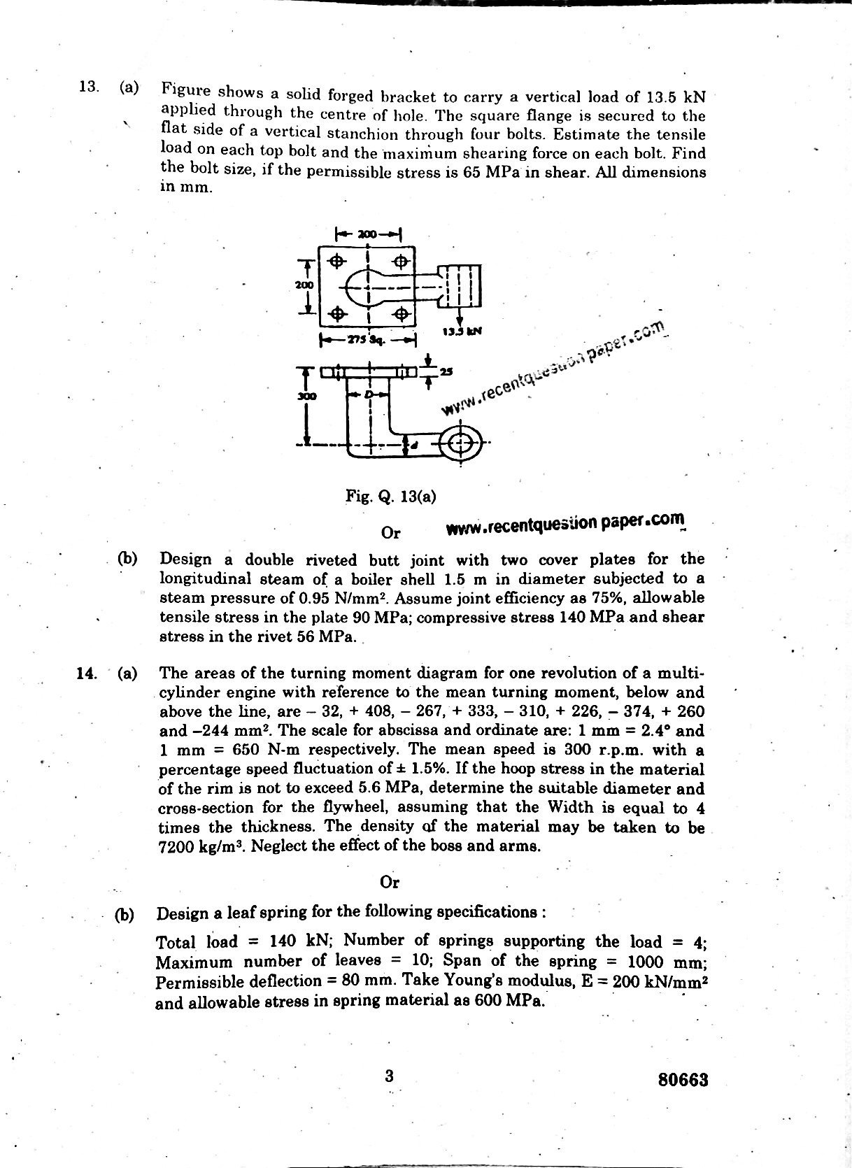 Design Of Machine Elements Anna University Question Paper Nov/Dec 2016