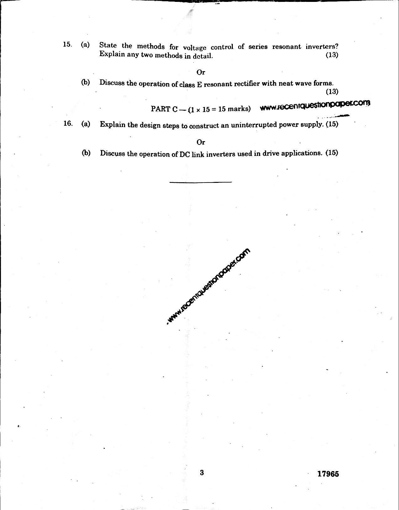 PX7103 University Question paper Nov/Dec 2016