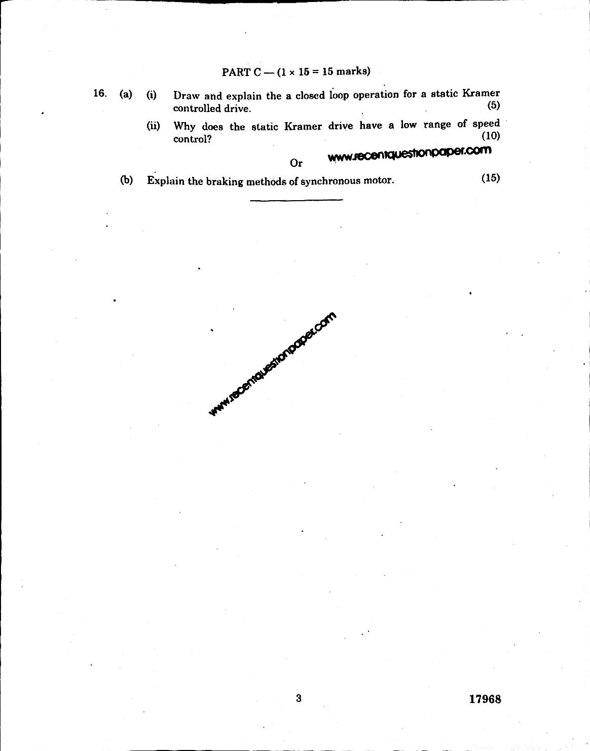 Solid State Ac Drives Anna University Question paper
