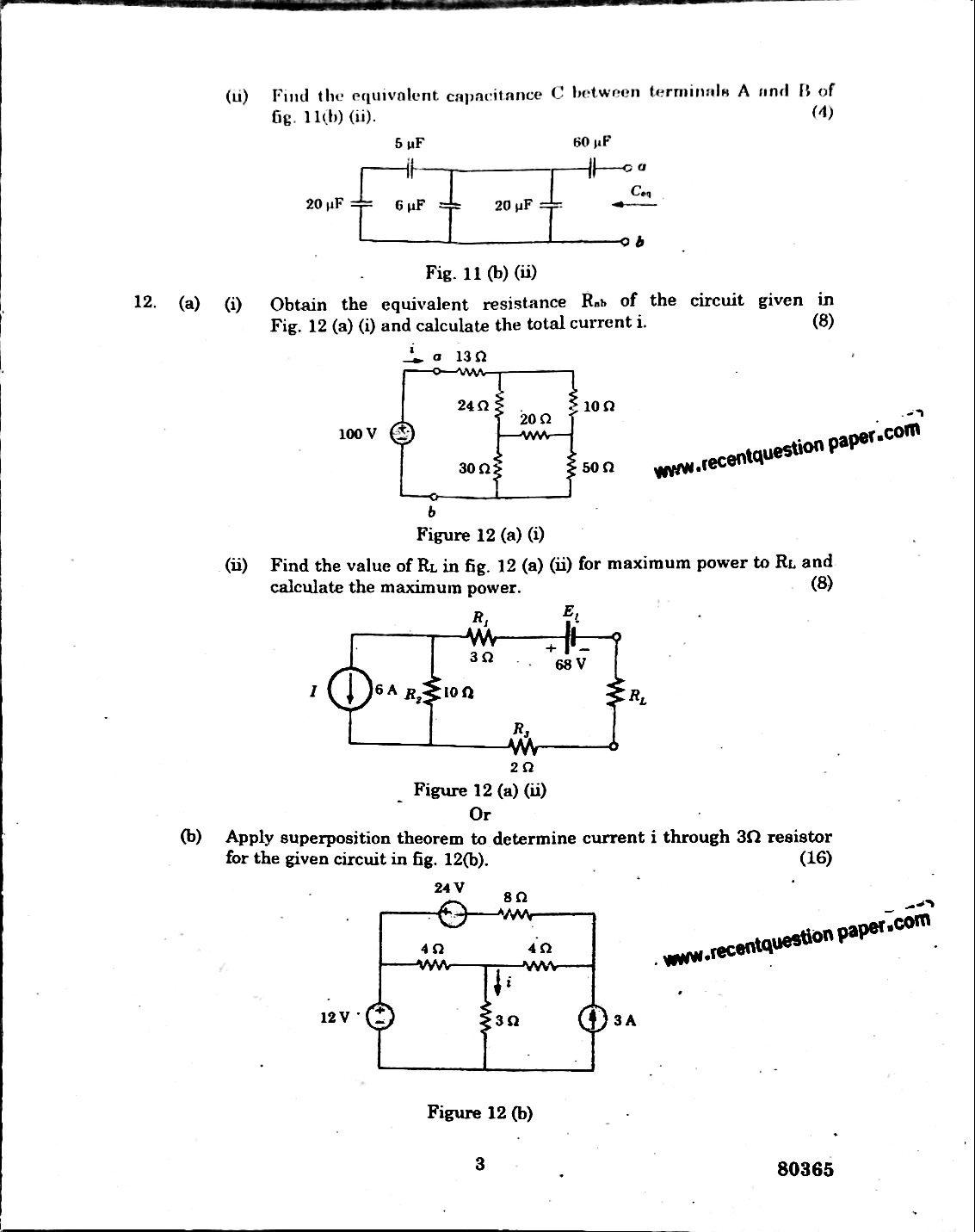 Circuit Theory Anna University Question paper Nov/Dec 2016
