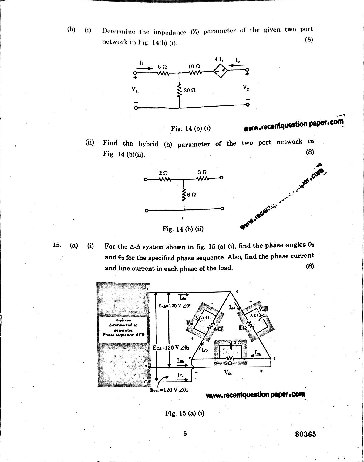 EE6201 Circuit Theory Anna University Question paper