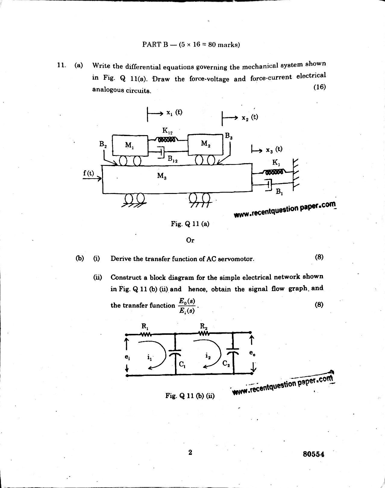 IC6501 Control Systems University Question paper Nov/Dec 2016 Pdf