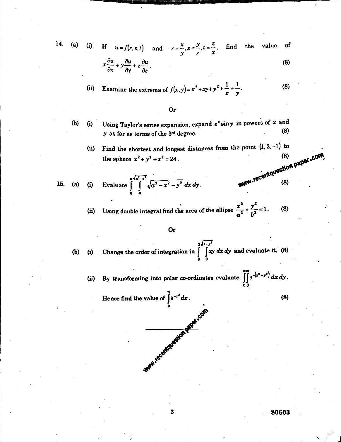 Mathematics-I Anna University Question paper Nov/Dec 2016
