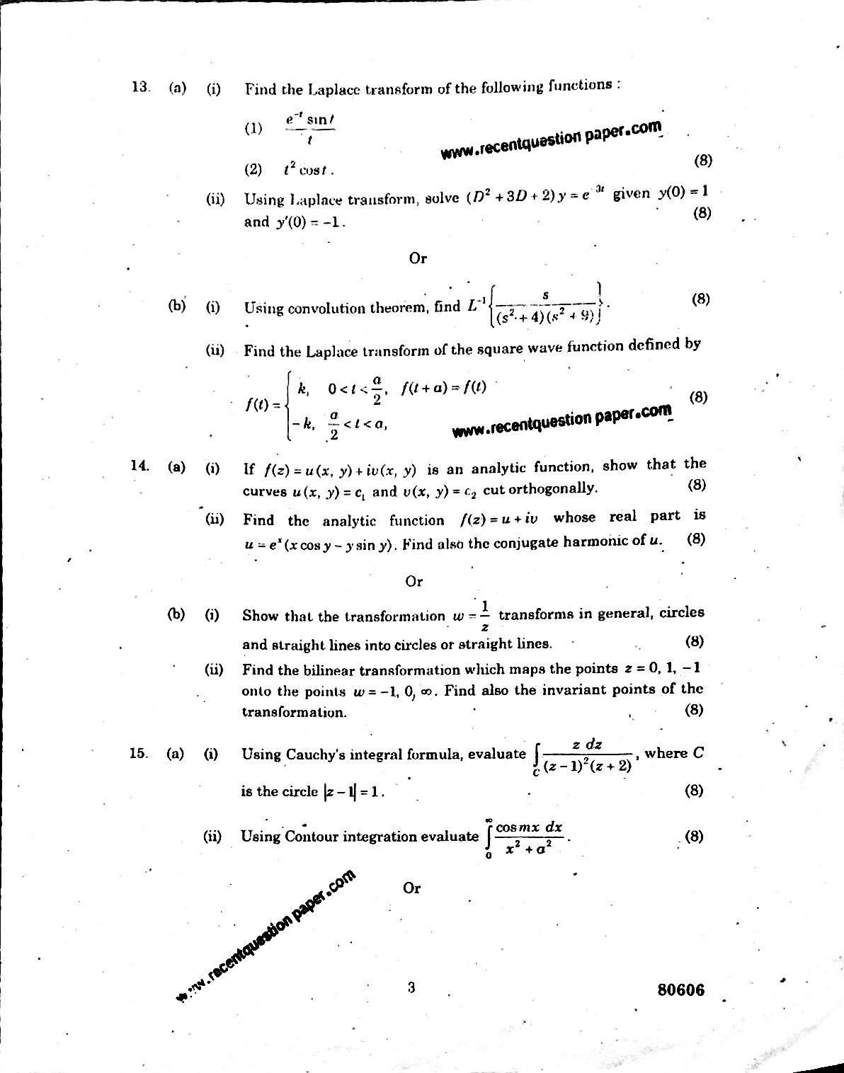 Mathematics-II Anna University Question paper Nov/Dec 2016