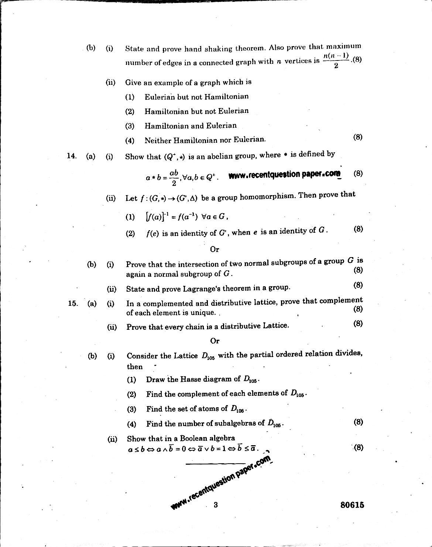 MA6566 Discrete Mathematics University Question paper Nov/Dec 2016